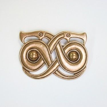 Kalevala Koru Snake Buckle (c.400-550 A.D.) brass, popular jewelry motif in Finland and Sweden