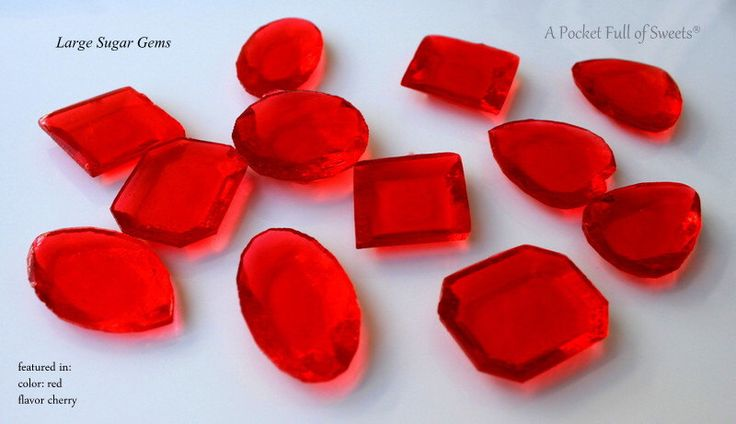 30 LARGE Red Edible Sugar Gems Jewels Barley Sugar Hard Candy Cake Decor Cupcake Jewels by APocketFullofSweets on Etsy https://www.etsy.com/listing/179498773/30-large-red-edible-sugar-gems-jewels