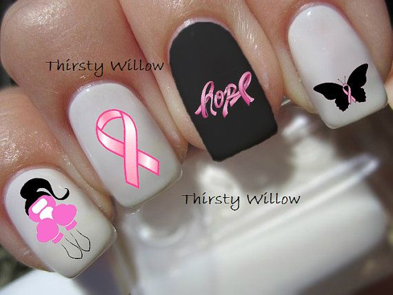 48 best breast cancer awareness nail designs images on pinterest breast cancer awareness prinsesfo Images