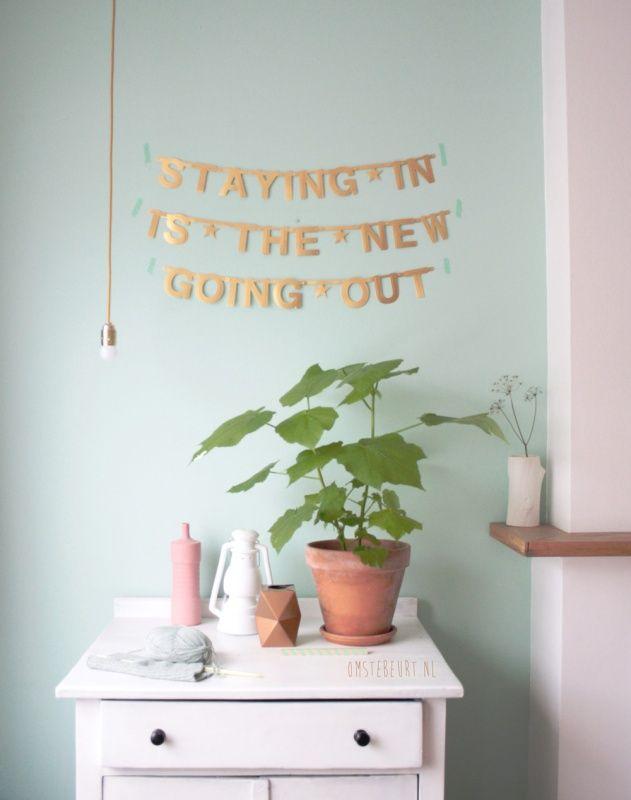 Make Your Own Banner - gold | Word-banners | Een Nieuw Avontuur #webshop #wordlwideshipping #DIYbanner #gold #pastel #interior