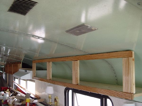 A good idea for overhead storage in otherwise wasted spaces