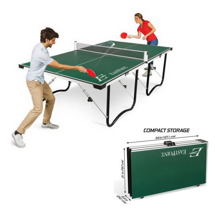 FOLDABLE Ping Pong Tennis Table 15mm Top Official Tournament Size EASY SETUP #EastPointSports