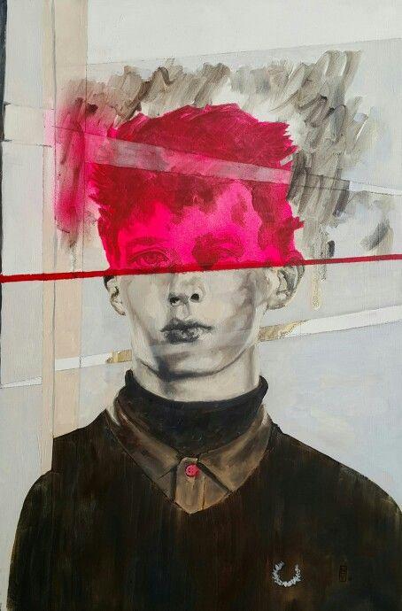 Album X, oil on canvas.  Nathan Vuuren.