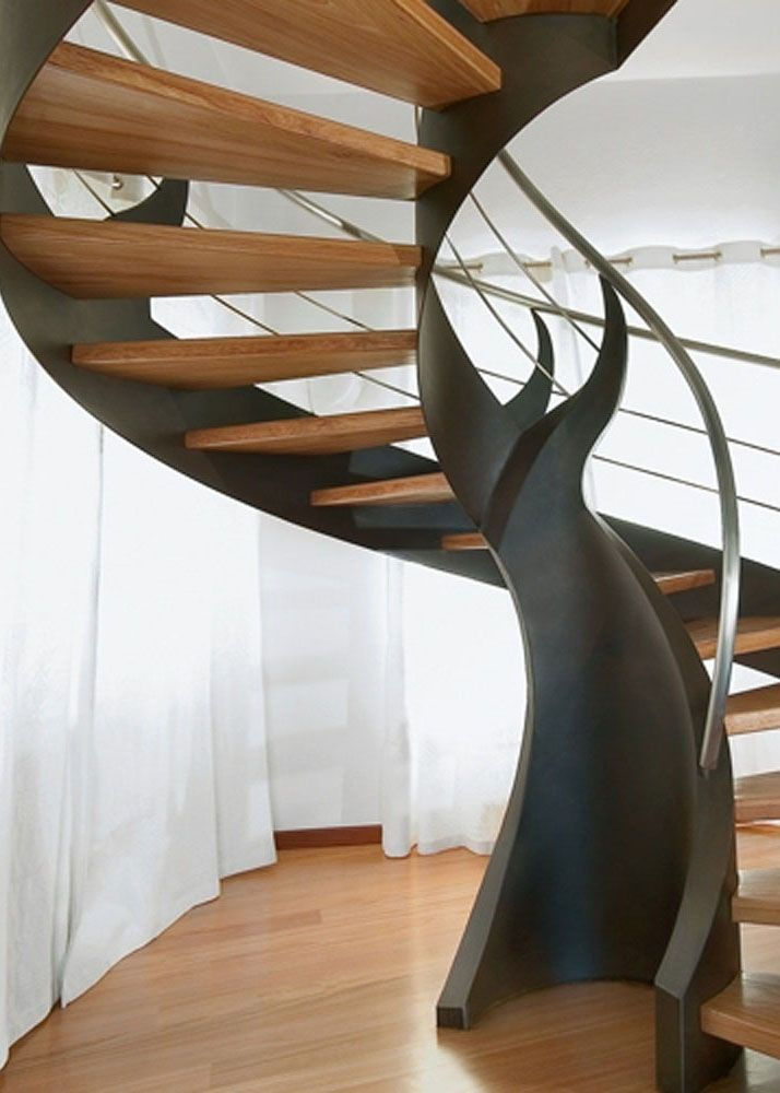 steel wooden spiral staircases
