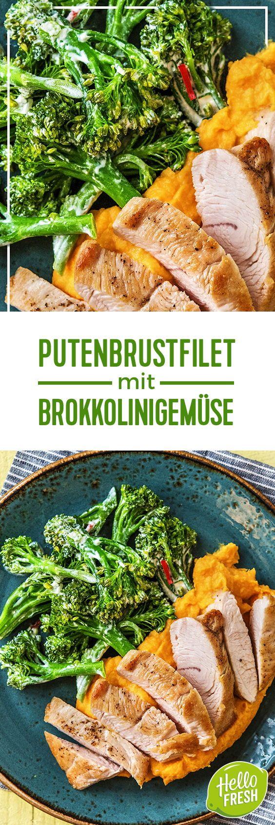 Step by Step Rezept: Putenbrustfilet mit Brokkolinigemüse und cremigem Kartoffel-Karotten-Püree  Kochen / Rezept / DIY / HelloFresh / Küche / Lecker / Gesund / Einfach / Kochbox / Ernährung / Zutaten / Lebensmittel / 30 Minuten / Pute / Putenbrust / Gemüse / Glutenfrei   #hellofreshde #blog #kochen #küche #gesund #lecker #rezept #diy #gesund #einfach #kochbox #ernährung #lebensmittel #zutaten #brokkolini #brokkoli #putenbrust #pute #filet #glutenfrei #püree #kartoffel