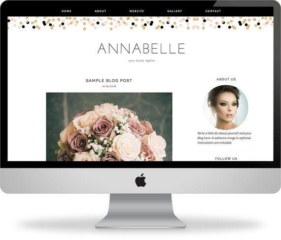 The Annabelle: Feminine premade blogger template