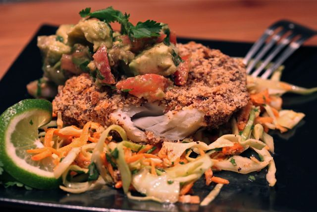 forward cod with coconut slaw cod with coconut slaw and pico this was ...