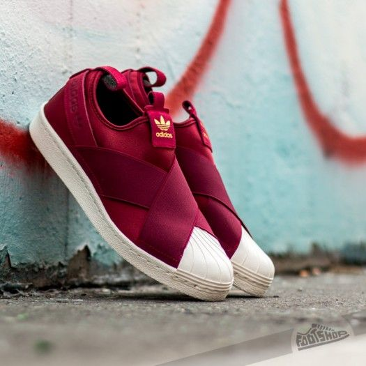 Adidas Superstar Shoes Burgundy