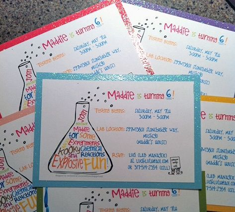 Maddie's Mad Science Birthday Party— Customer Feature