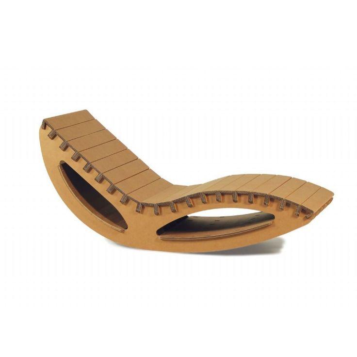 Chaise longue oscillante in cartone ondulato Boucher plus