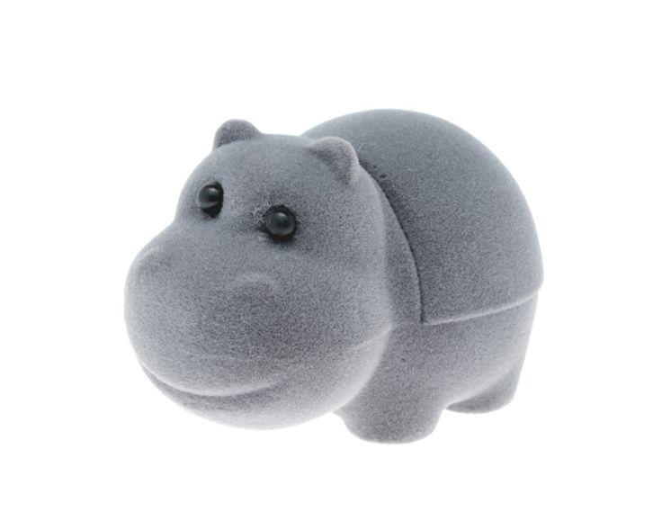 Zabawne opakowanie na biżuterię w kształcie uśmiechniętego hipopotama   NA PREZENT \ Opakowania na biżuterię od GESELLE Jubiler