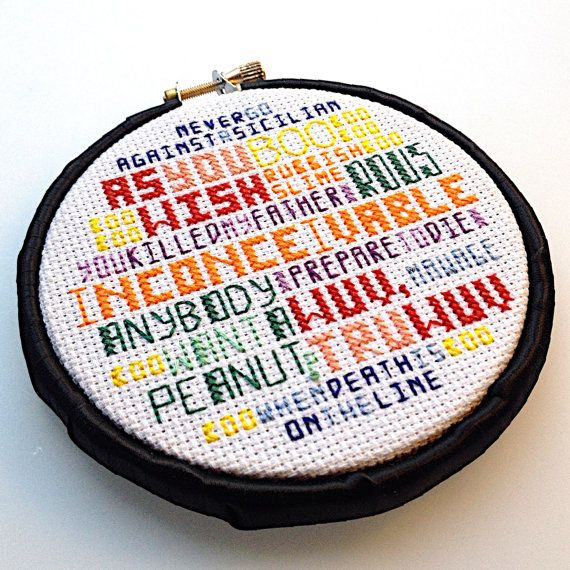 Princess Bride - Cross-Stitch Pattern, INSTANT DOWNLOAD PDF