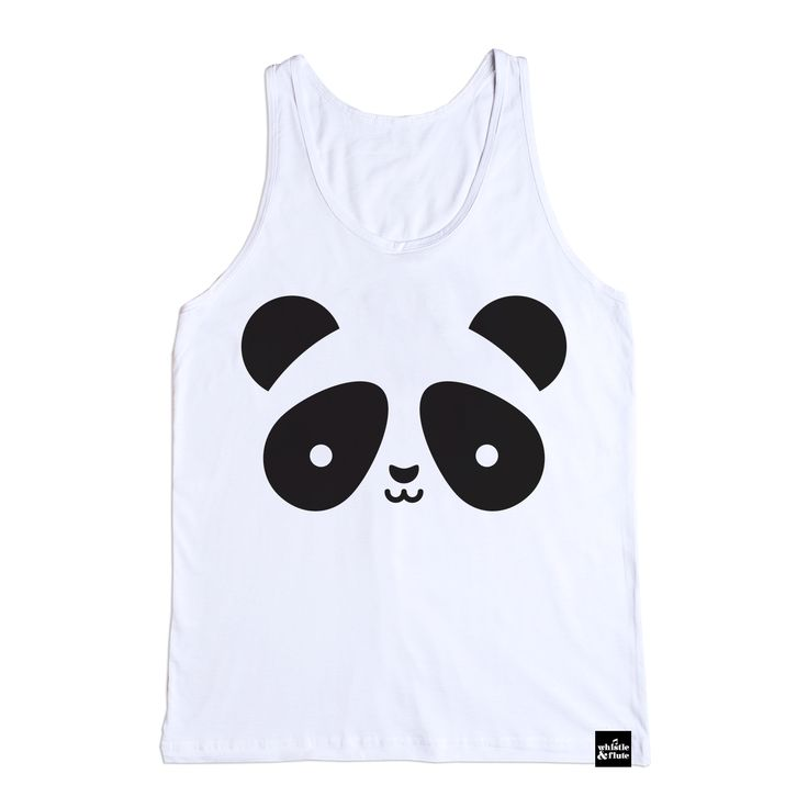 Kawaii Panda Tank Top from Whistle & Flute, available at Modern Rascals  Tagless and Organic!