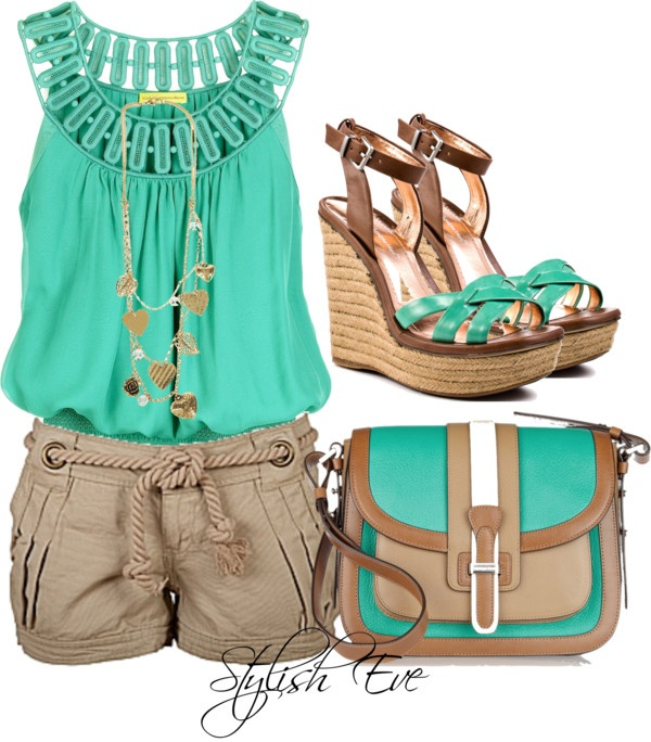 """""""Noha"""" by stylisheve on Polyvore.  Wow, love design & colors of purse."""