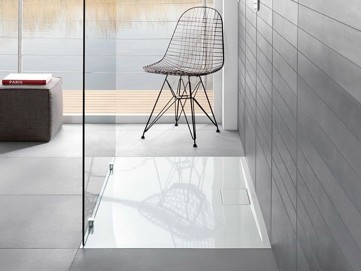 Extra flat acrylic shower tray Architectura MetalRim Architectura Collection by Villeroy - Red Dot Design Award WINNER