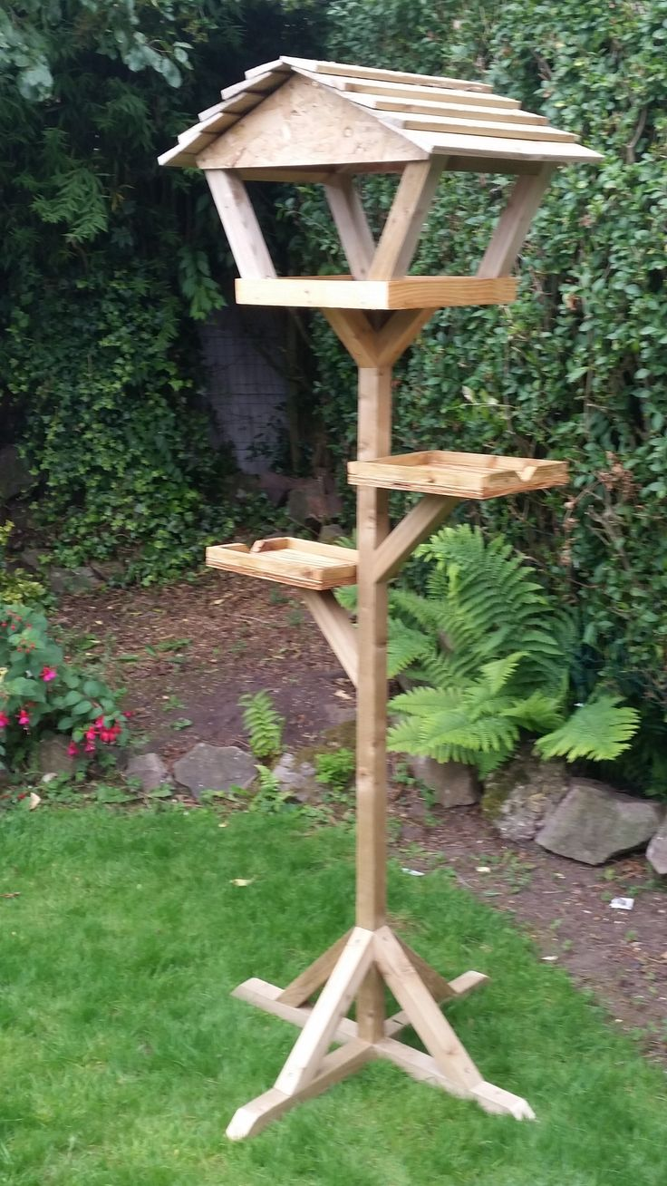 Bird feeder. Feeding station, mostly made out of off cuts.