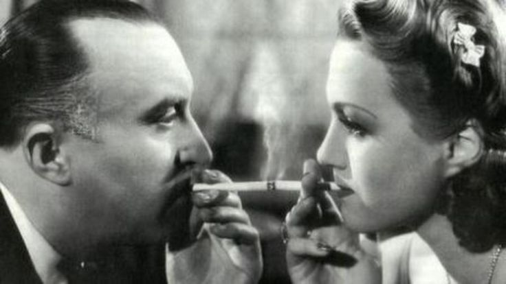 "Famous scene from the movie ""Kristian"" (1939) with Oldrich Novy and Adina Mandlova."