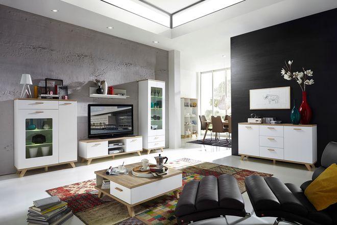 Glänzende Aussichten mit dem Loddenkemper Media-Sideboard in lack - wohnzimmer möbel höffner