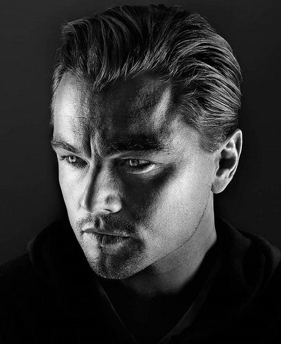 Leonardo Dicaprio - not my favorite guy, but this is a good shot! Look at his eyes! (He looks kind of evil).