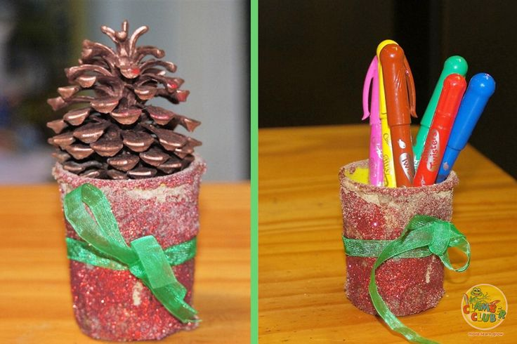 We love to experiment with textures in our house, and came across a lovely idea for a plant holder, but seeing that we didn't have any empty pot plant holders, and loads of empty playdoh cans we decided to make it using these instead.