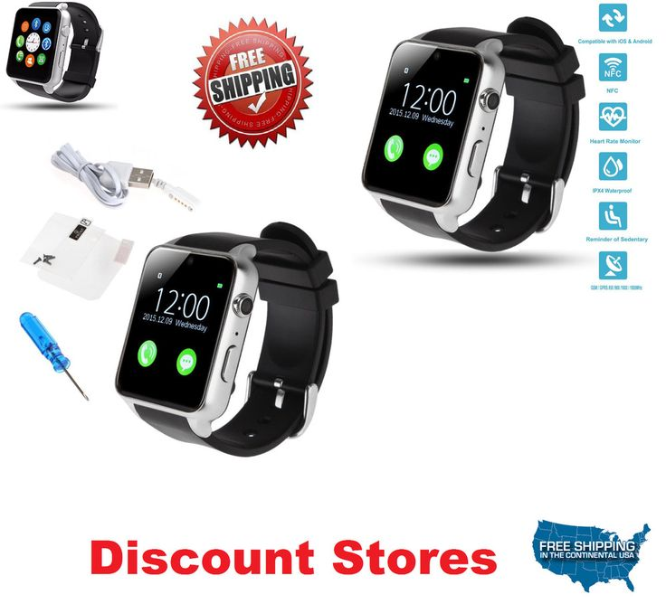 Smart Watch Cell Phone Bluetooth HD Camera Stainless Steel for Android iOS New #SmartWatches #TouchScreen