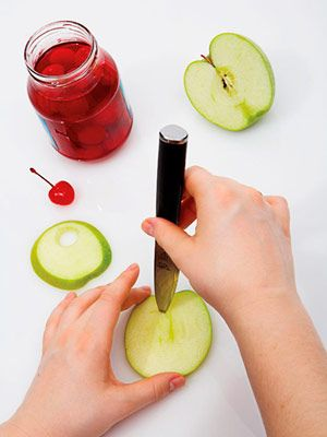 Top It With A Cherry! The cherry sits in the apple #diy #cocktails