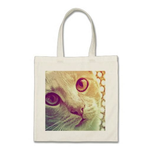 A beautiful close-up cat portrait, especially for cat lovers! Love and Devotion Budget Canvas Bag, by FOMAdesign