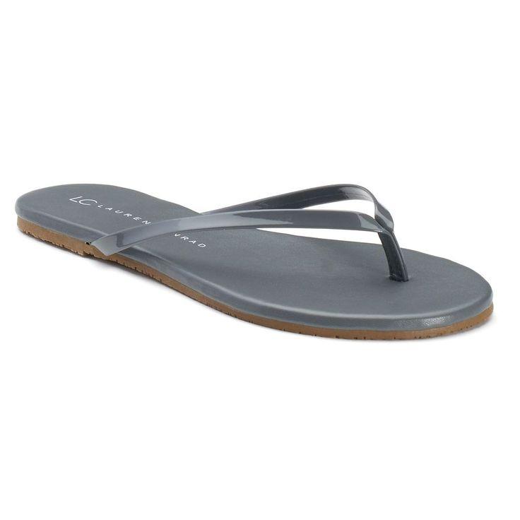 LC Lauren Conrad Women's Flip-Flops, Size: 10, Grey