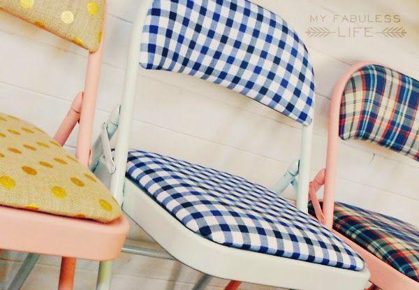 My Fabuless Life: Party Pretty Folding Chairs
