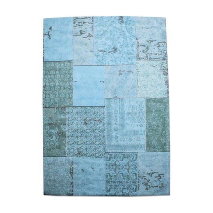 Carpet Patchwork 200x300 cm - turquoise (7037) #Pakhuis3 #Kleed #Carpet