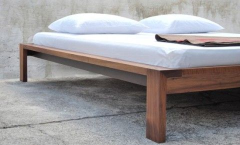 Solid Wood Bed Frame by THISMADE | Bedroom Decor Ideas