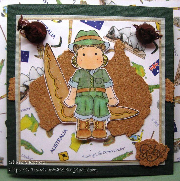 Handmade Card, Australiana, Magnolia Stamps, http://sharonshowcase.blogspot.com, Australia, Boomerang
