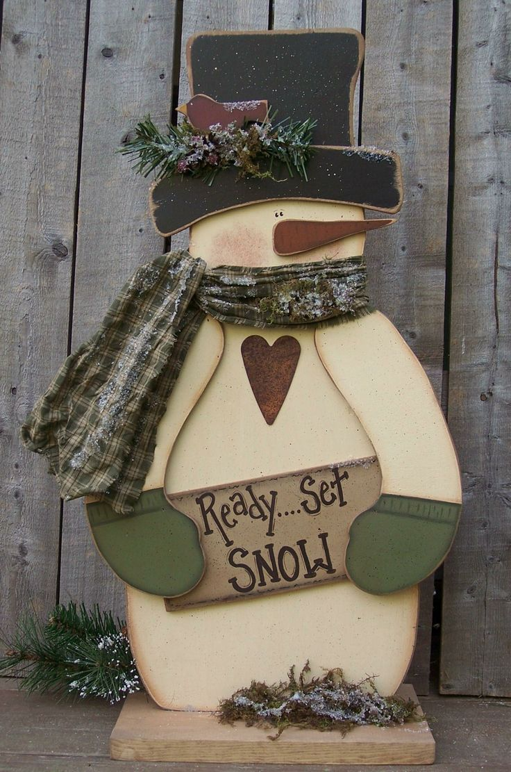 Best 25+ Wooden snowman crafts ideas on Pinterest   Wood snowman ...