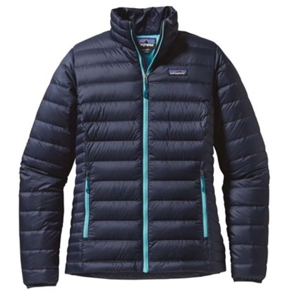 Patagonia Down Jacket navy blue size L NWT Holiday gift I haven't worn!  On Patagonia.com right now for $229.  Price is firm....no trades. Patagonia Jackets & Coats Puffers