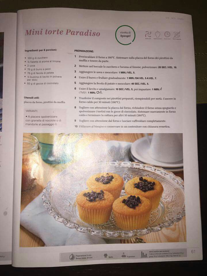 Mini torte paradiso