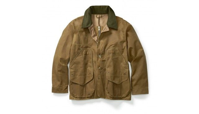 Weather-resistant, lined hunting coat cut for mobility