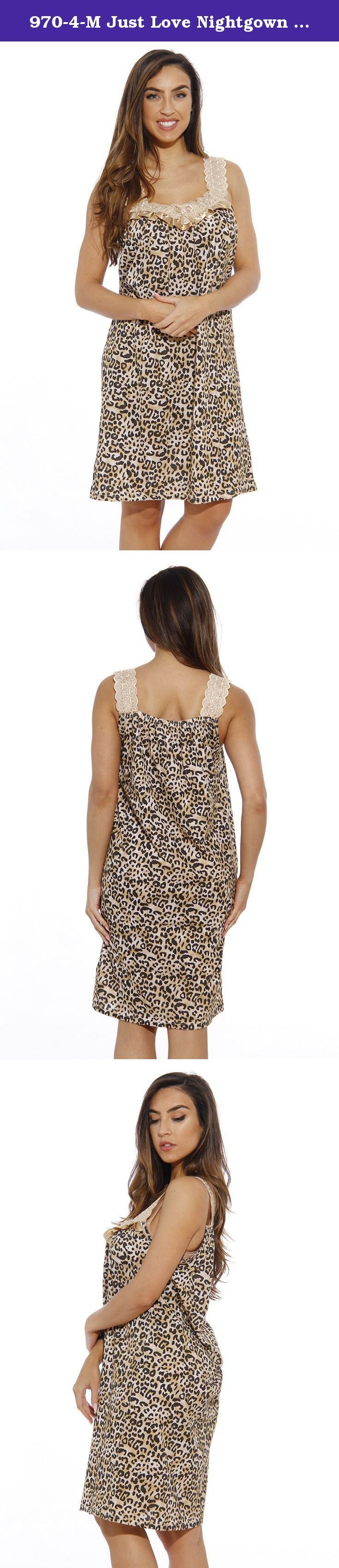 970-4-M Just Love Nightgown / Women Sleepwear / Womans Pajamas, Leopard, Medium. Just Love styles prides itself on value. We focus on giving the consumer the latest fashion and styling at prices that won't break the bank.