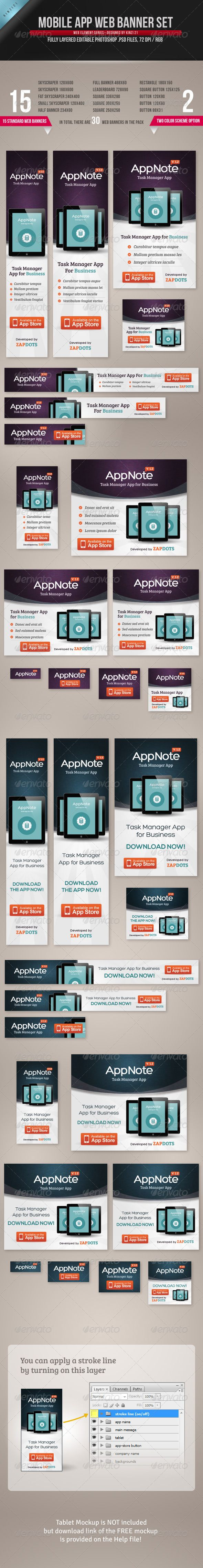 Mobile App Web Banner Set Template PSD | Buy and Download: http://graphicriver.net/item/mobile-app-web-banner-set/4543390?WT.ac=category_thumb&WT.z_author=kinzi21&ref=ksioks