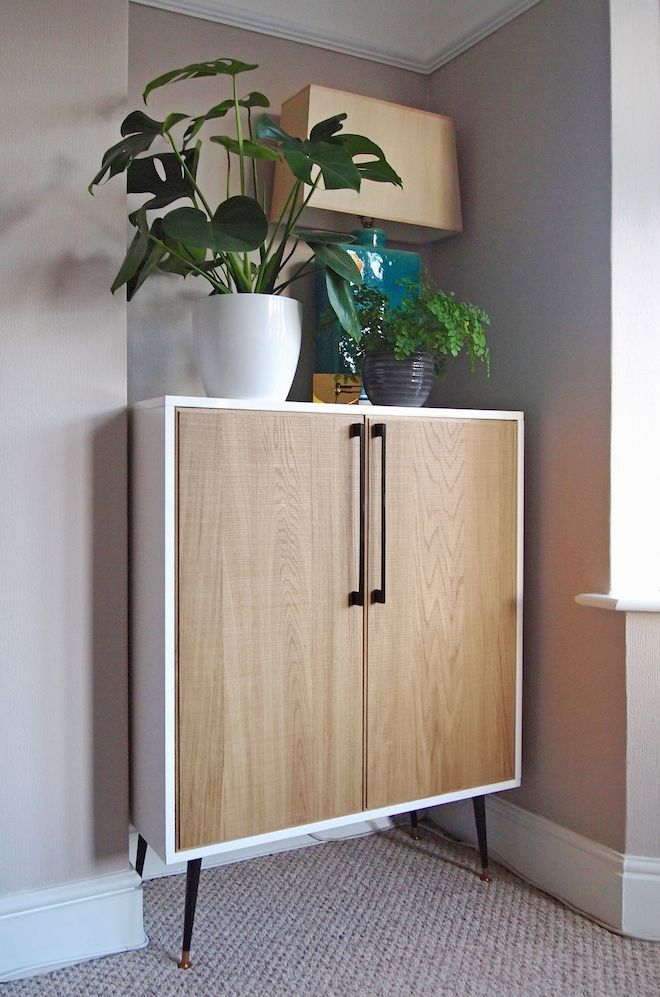 Diy Furniture Mid Century Inspired Cabinet Ikea Hack By