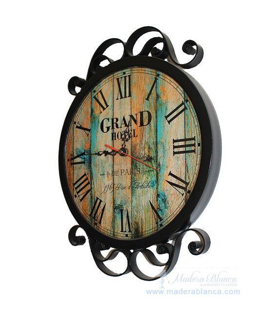 www.maderablanca.com Reloj de Pared