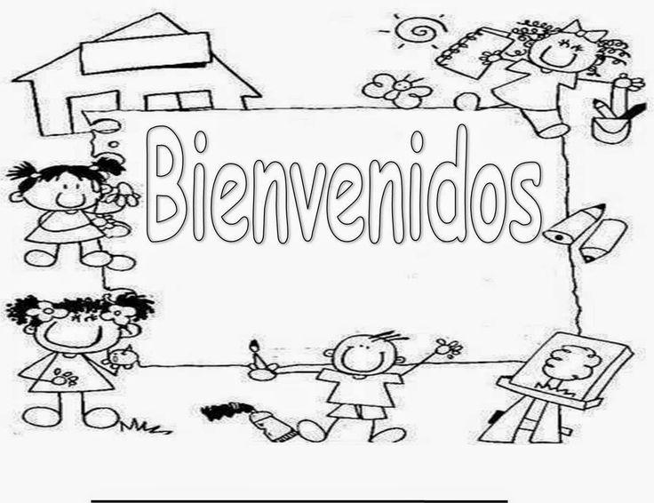Colorea Tus Dibujos De Regreso A Clases Para Colorear Y Pintar Bienvenido A Clase Bienvenido A La Escuela Bienvenida Al Colegio
