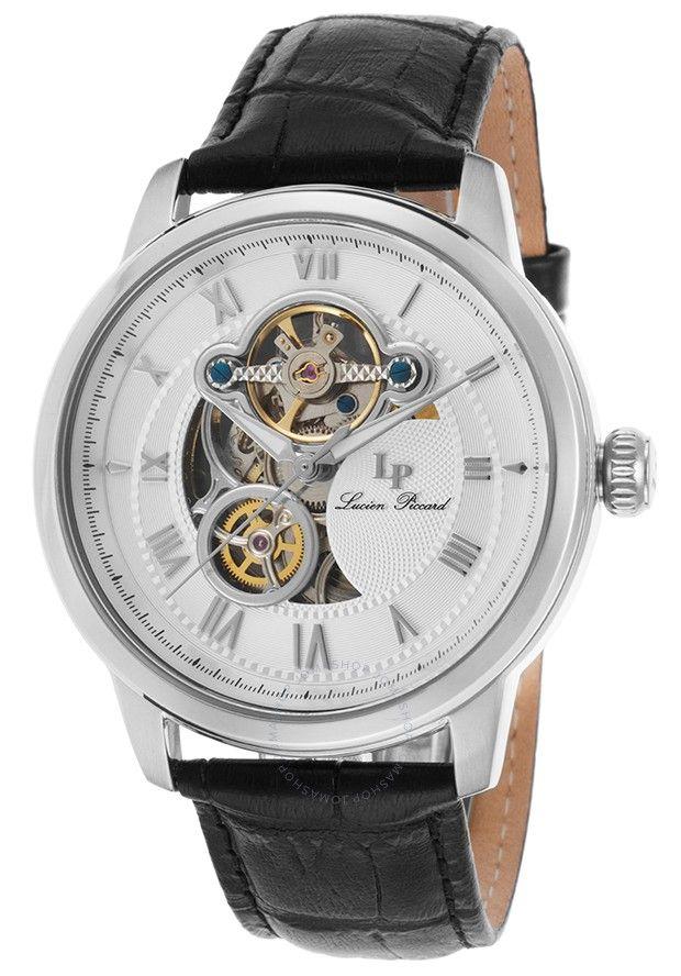 Lucien Piccard Optima Automatic Men's Open Heart Watch LP-12524-02 - Lucien Piccard - Watches - Jomashop