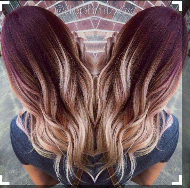 Best 25 burgundy hair ideas on pinterest maroon hair burgundy hair ombre and winter hair colour - Ombre hair marron ...