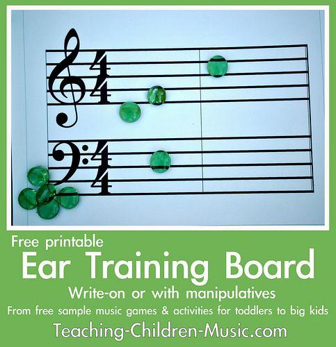 Free ear training board from Teaching Children Music