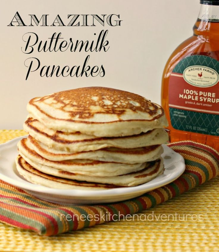 Amazing Buttermilk Pancakes.  Good Old fashioned light and fluffy pancakes.