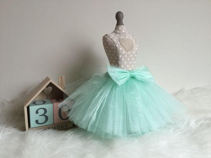 Spódniczka tiulowa miętowa idealna dla małej księżniczki:)
