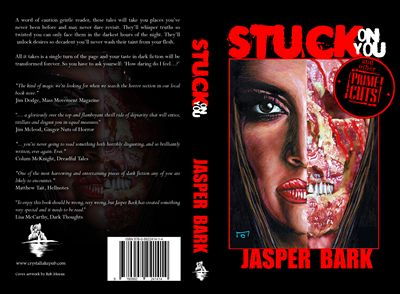 "Full cover for the paperback edition. Artwork by Rob Moran.  ""Jasper has outdone himself ! This collection has something for everyone and is sure to bring that 'creep factor' into your night.... hold onto your knickers and hold onto your lunch because there's something there that will thrill and shock you all at the same time. "" – Amazon review  http://getbook.at/JasperPrimeCuts"