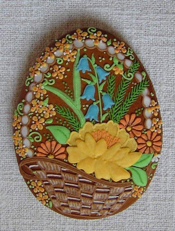 Flower Filled Easter Basket Chocolate Egg