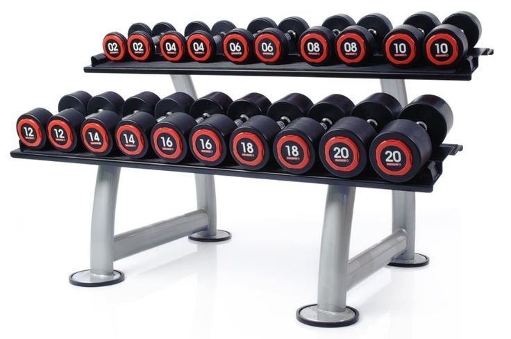 #homegym Escape Fitness Polyurethane (PU) Dumbbell Set with Rack (up to 50Kg): Escape Polyurethane Dumbbells - More… #fitnessequipment