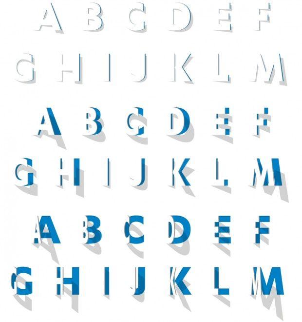 kmm alfabet 620x660 Identidad del museo de Kröller Müller